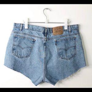 Vintage Orange Tab 550 Levi Cutoff Shorts 22W